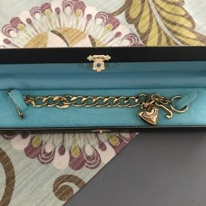 Juicy Couture Jewelry - Juicy Couture GoldTone Link Heart Bracelet NEW